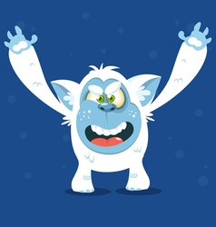 Angry cartoon monster yeti for Halloween vector image vector image