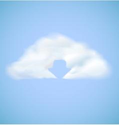 Cloud computing icon with arrow download vector image vector image