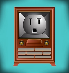Electric TV Face vector image vector image