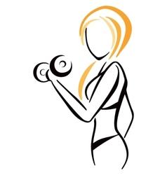 Fitness symbol vector