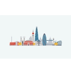 London abstract skyline vector image vector image