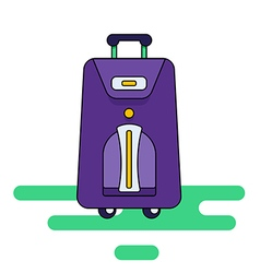 Luggage bag with wheels isolated on a white backg vector