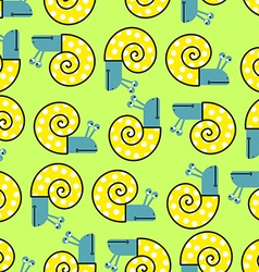 Snail seamless pattern background with clam shells vector image vector image