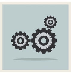 Technology mechanical gear icon vector image vector image