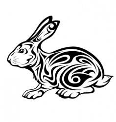 tribal rabbit vector image vector image