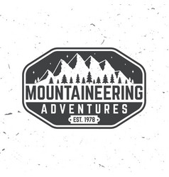 vintage typography design with mountain silhouette vector image