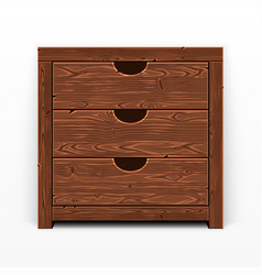 wooden old chest of drawers vector image