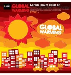 Global warming concept EPS10 vector image