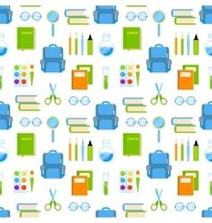 School supplies seamless pattern vector image vector image