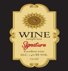Wine label design vector image