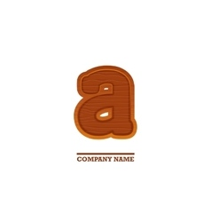 Wooden letter A as logo for business vector image vector image