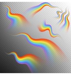 Rainbows object set EPS 10 vector image