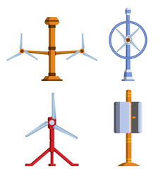 set of different tidal power station rotters vector image vector image
