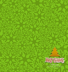 Snow flakes texture design green background vector image vector image