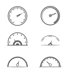 Speedometers vector image