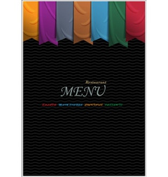 Vertical menu card design with ribbons vector image vector image