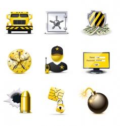 bank security icons   bella vector image vector image