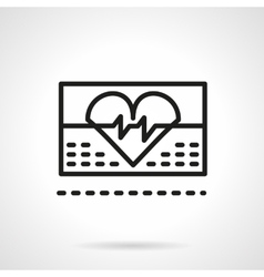 Cardiology icon black line icon vector image vector image