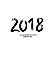 grunge brush 2018 new year vector image vector image