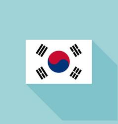 korea flag vector image