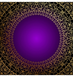 oriental gold ornament vector image