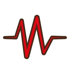 red heart pulse rhythm icon vector image