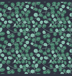 a seamless pattern with leaf green leaves vector image