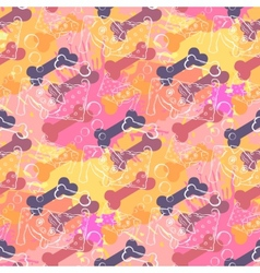 Abstract Dog with boneSeamless pattern on the vector image