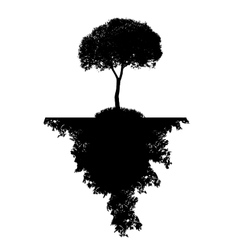 Abstract Silhouette Tree vector image vector image