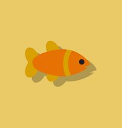 Aquarium fish silhouette colorful cartoon flat vector