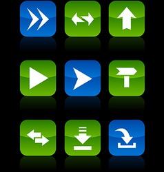 Arrows buttons vector image