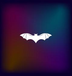 Bat silhouette icon vector