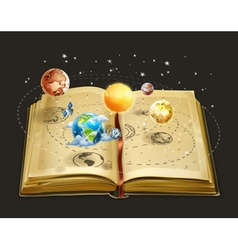 Book on astronomy icon vector
