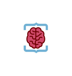 Brain code logo vector
