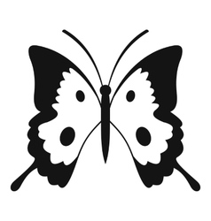 Butterfly icon simple style vector