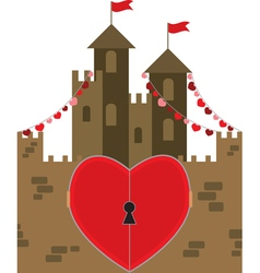 castle of love vector image