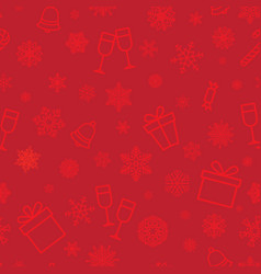 Christmas icon seamless pattern winter holiday vector