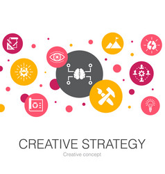 Creative strategy trendy circle template vector