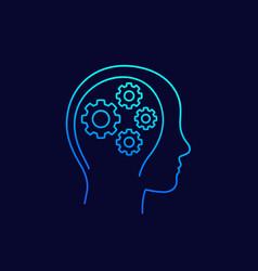 creativity thinking linear icon vector image