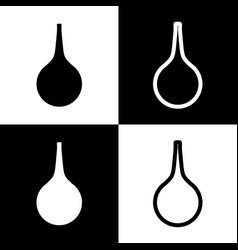 Enema sign black and white icons and line vector