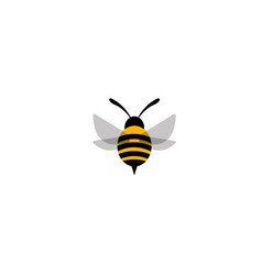 flying bee worker logo vector image