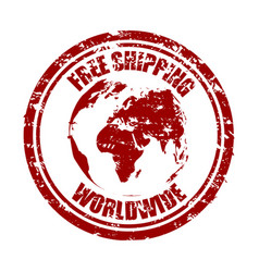 Free shipping worldwide rubber stamp texture vector