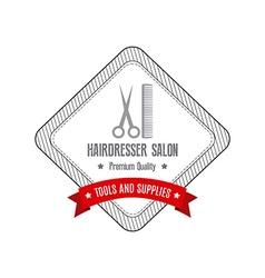 Hairdresser Label vector