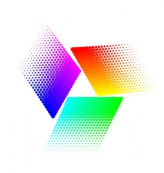 halftone triangular vector image