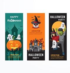 Halloween party banner template design vector