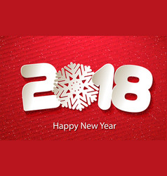 happy new year 2018 background with paper vector image