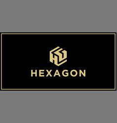 hg hexagon logo design inspiration vector image