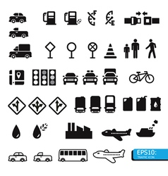 Icon traffic vector