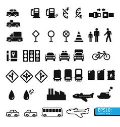 Icon traffic vector