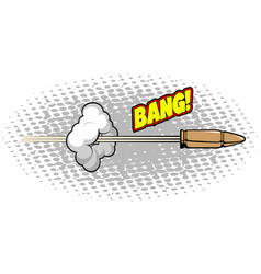 Isolated comic bullet vector